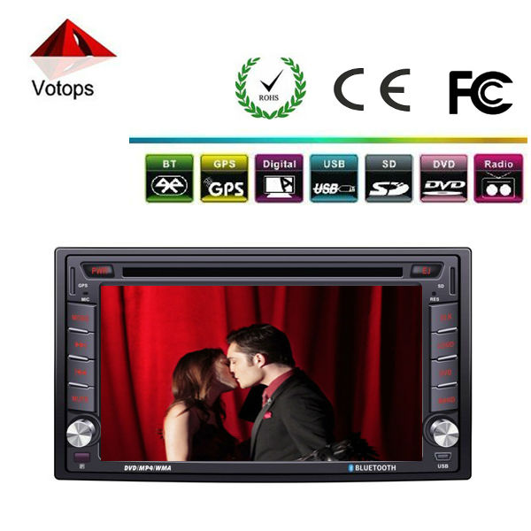 high resolution touch screen car audio dvd player with GPS/bluetooth