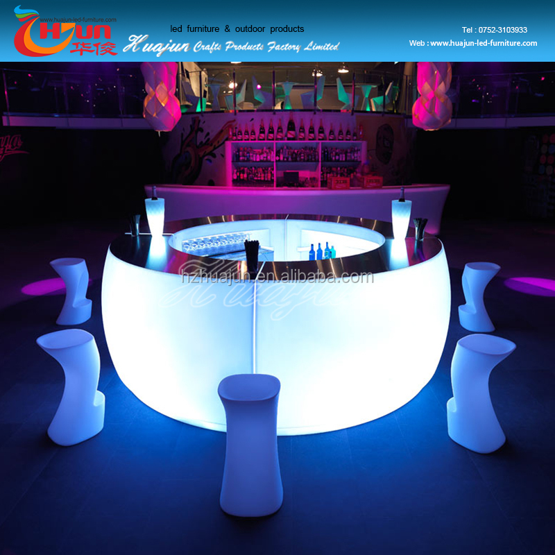 LED plastic bar furniture glowing light up bar counters