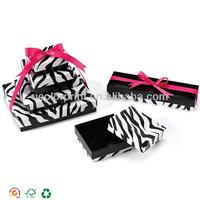 black zebra custom printed jewelry boxes