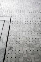 Natural Stone Bath Shower Tile Carrara White Marble Mosaic Tile