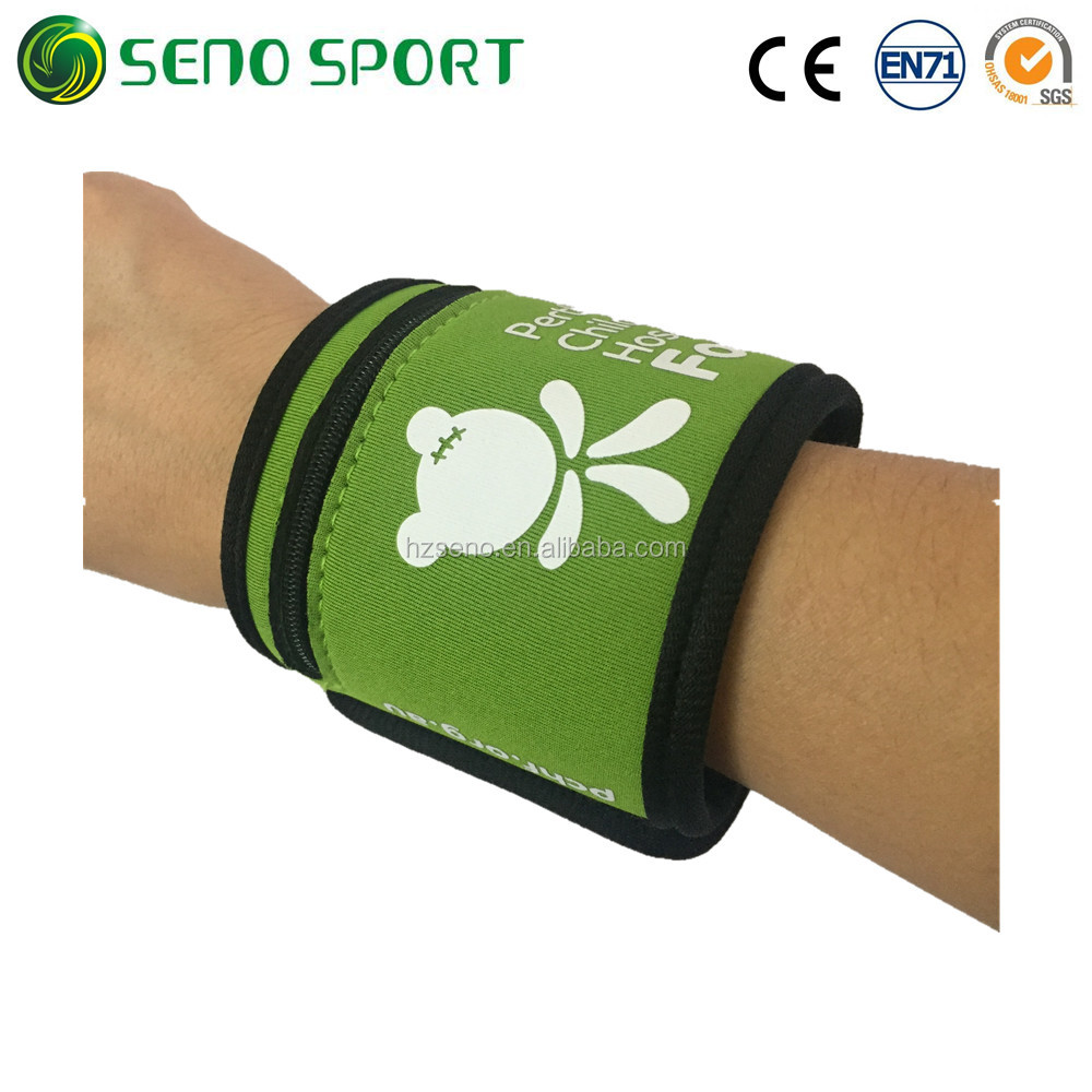 High Quality Sport Running Neoprene Wrist Band With Velcro