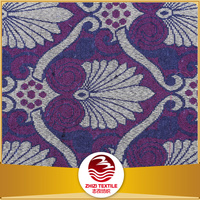 Polyester and cotton purple color curtain fabric jacquard decoration cloths
