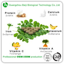 Daily Vitamin Supplement Oem Formula Moringa Leaf Powder Tablet