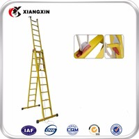 2016 new industrial retractable grp fiber glass ladder sale