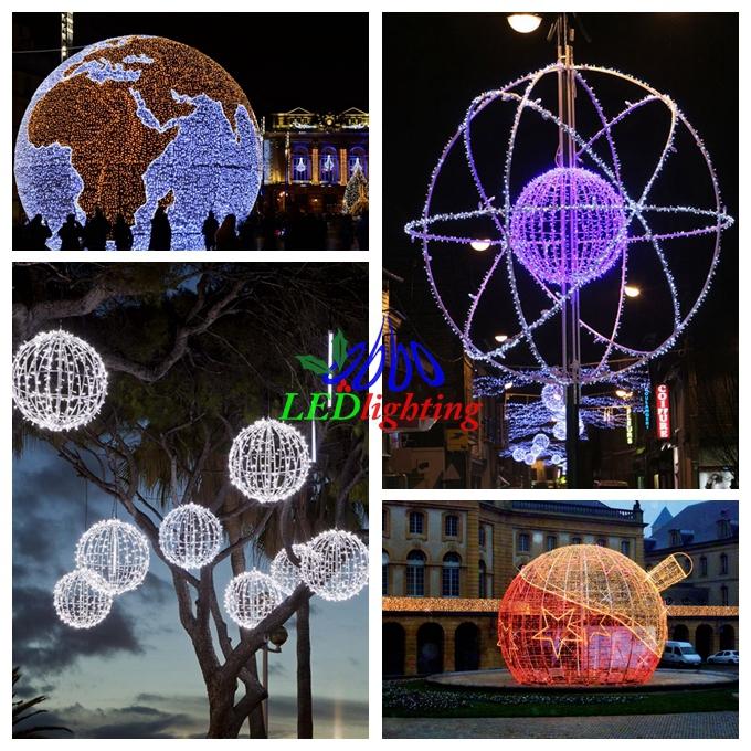 2015 led christmas ball led christmas ball led for Outdoor christmas balls that light up