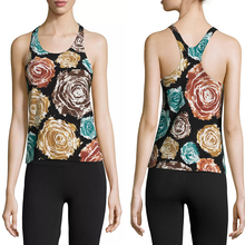 ladies apparel online Scoop neckline ladies printed tank tops in bulk