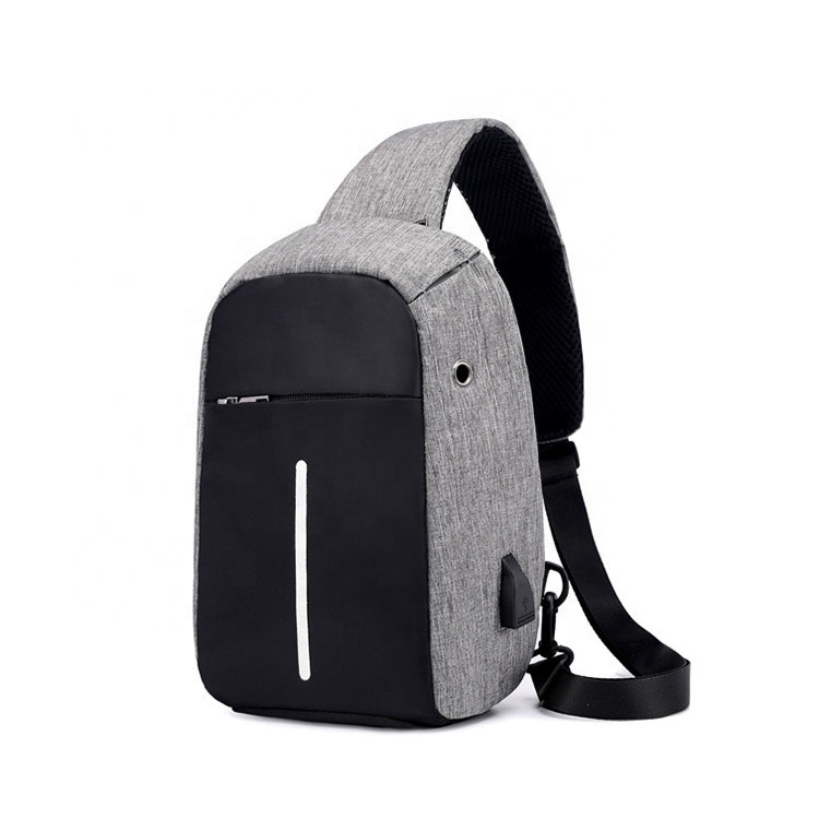 Wholesale anti theft crossbody bag mens chest sling bag