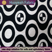 Circle pattern flocked linen look online fabric stores india