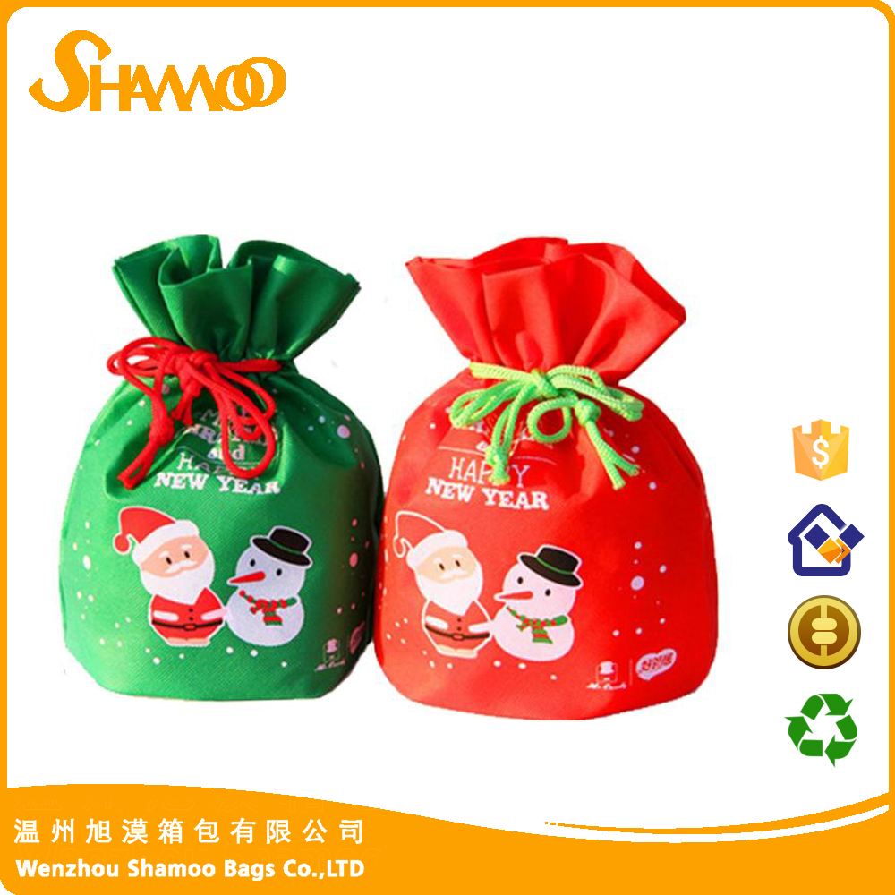 non-woven christmas kids gift bags candy bags