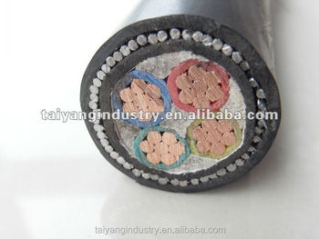 4 core 185mm2 steel wire armoured copper power cable/copper cable