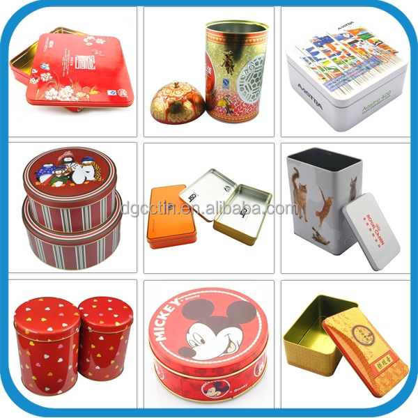 factory customized wine storage with airtight lid tin box