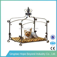 Pet beds&accessories steel flat bed frame princess dog bed