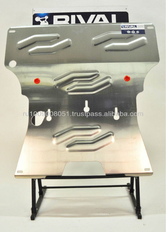 Aluminum skid plate for AUDI A4