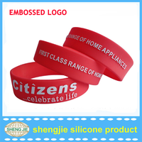 Wholesale hot time silicone bracelet china silicon rubber bracelets /cheap bracelet maker