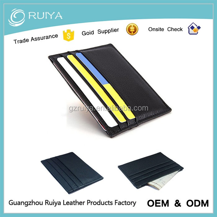 Men Slim Genuine Leahter Various Colour Men & Women Credit Card Holder Wallet