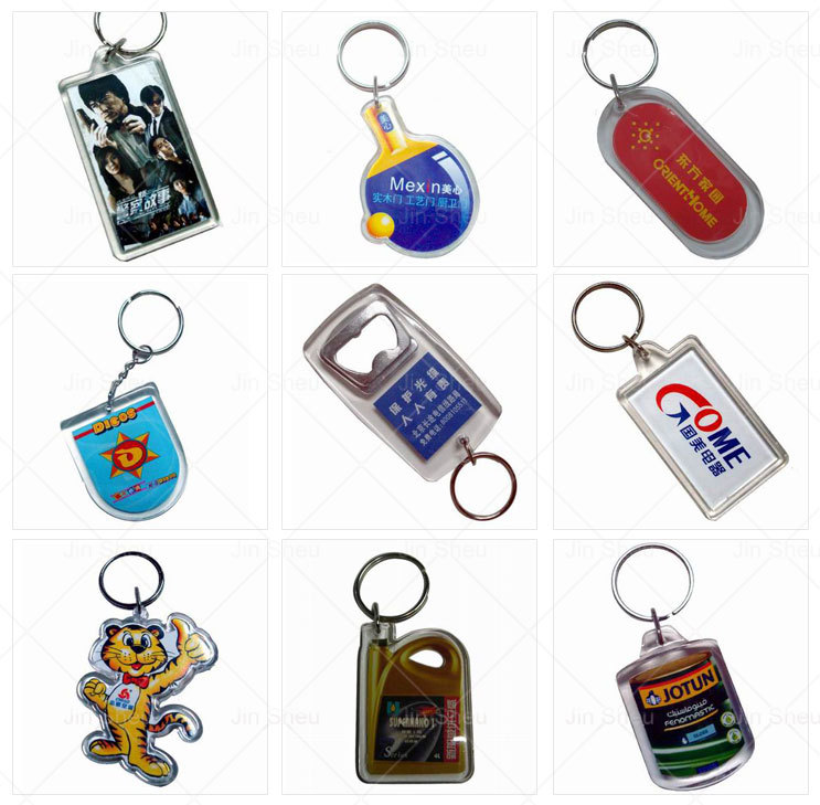 Custom cartoon character holographic acrylic keychain