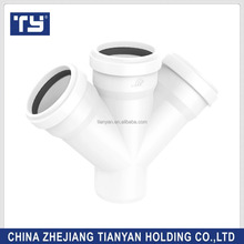 PVC UPVC plastic GB standard drainage four way cross connector pipe fittings Joints 110mm160mm