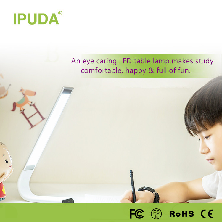 alibaba IPUDA new premium wall mounted led bed reading lamp with flexible neck touch control panel