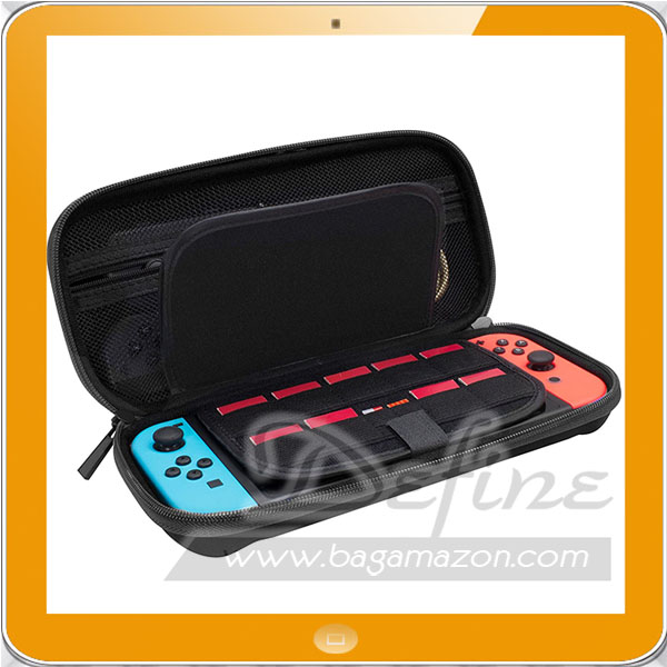 Hard Carry Case for Nintendo Switch with 19 Game Cartridge and 2 Card Holders for Micro card