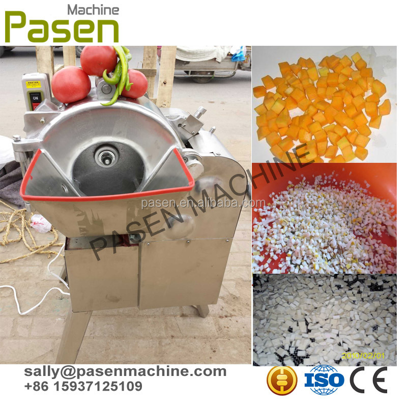 stainless steel automatic vegetable dicing machine / fruit and vegetable dicing machine / apple dicing machine