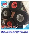 Solid Flat free PU Foam Filled Rubber Wheelbarrow Wheel And Tyre 4.80/4.00-8 CHINA Production and export