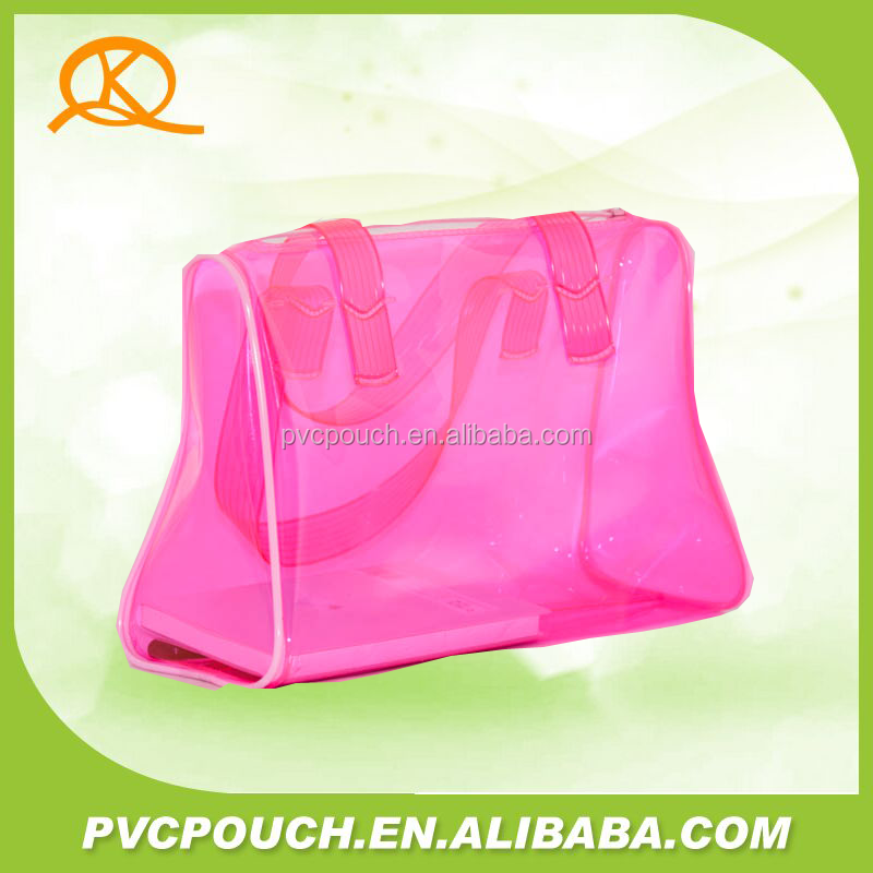 transparent pvc women hand bag made in China