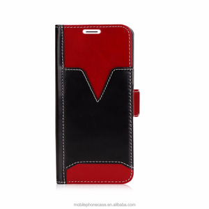 Multi functional genuine leather wallet card holder mobile phone case for Samsung Galaxy S9