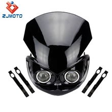 High quality Bajaj Pulsar 180 Motorcycle Headlight/Motorcycle Double LED Headlight