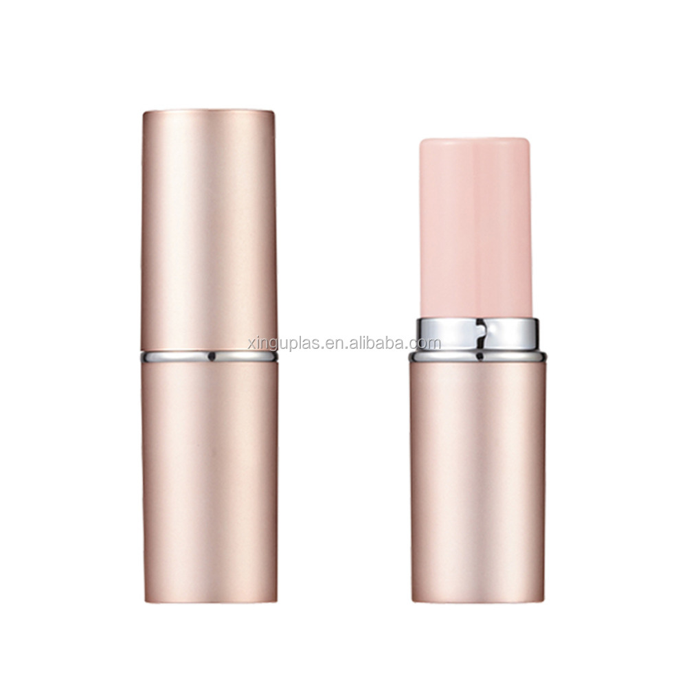 cylinder Lip balm stick container, cosmetics plastic lipstick packaging