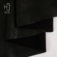 2017 Hot Selling fashionable new super black pu Fake Leather Fabric