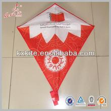 diamond shaped kite with printing from kite factory in china