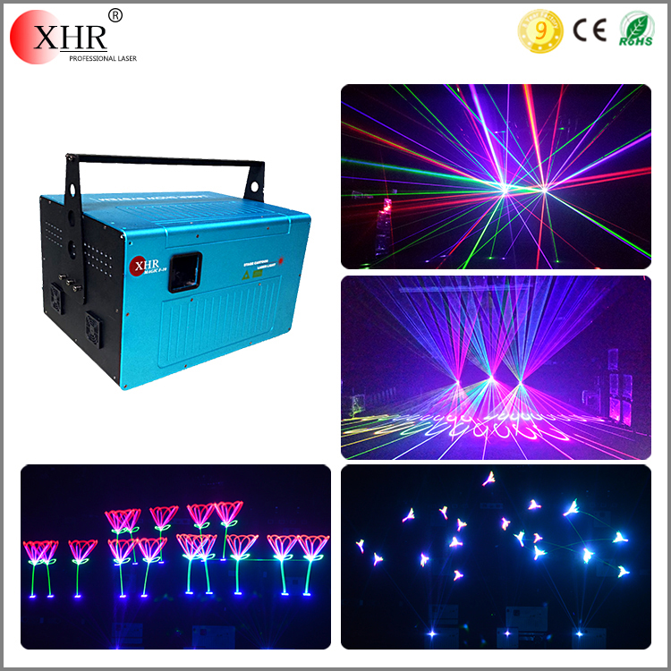 XHR Stage 10 watt laser rgb full color animation laser projector