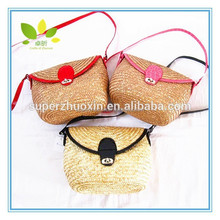 2016 hot selling wheat straw beach bag