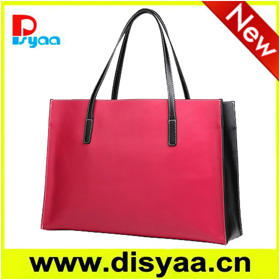 2017 new design simple style big red lady handbag lay bag
