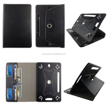 7 inch Universal 360 Rotary PU Leather Folio Stand Shockproof Case for Tablet
