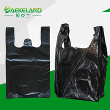 China manufacturer black plastic grocery bag wholesale