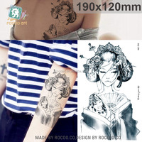 MC755/Latest non-toxic waterproof unique japanese girl temporary tattoo body art