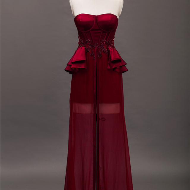 2016 New Red Bridesmaid Gown Dress Custom Made Bridesmaid Dresses for Wedding Party