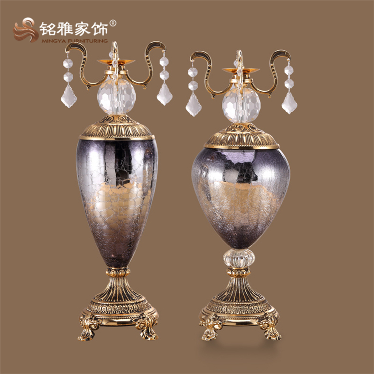 Large art and crafts business gift item floor glass bottle statue for home deocration