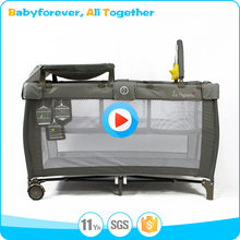 China Manufacturer baby play yard, adjustable baby playpen with canopy