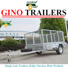 Heavy Duty Caged Cage 7X5 ft Car utility trailer