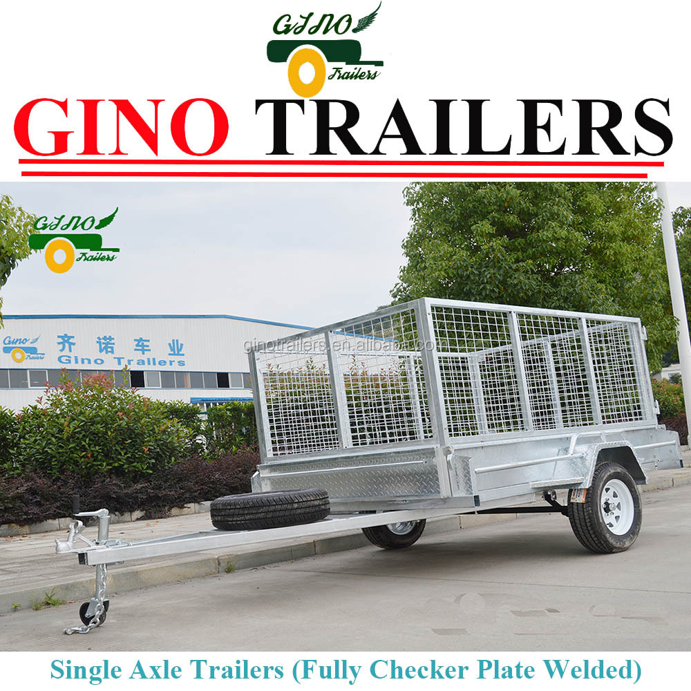 Heavy Duty Utility Caged Cage 7X5 ft Car Trailer