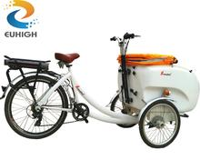 3 wheels electric flatbed tricycle cargo trike