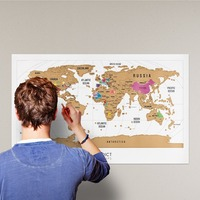 Scratch Off World Map Colorful Travel