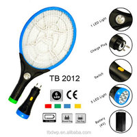 Household led light & torch rechargeable mosquito swatter