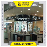 International brand cosmetic display counter for lady's make up in mall kiosk furniture
