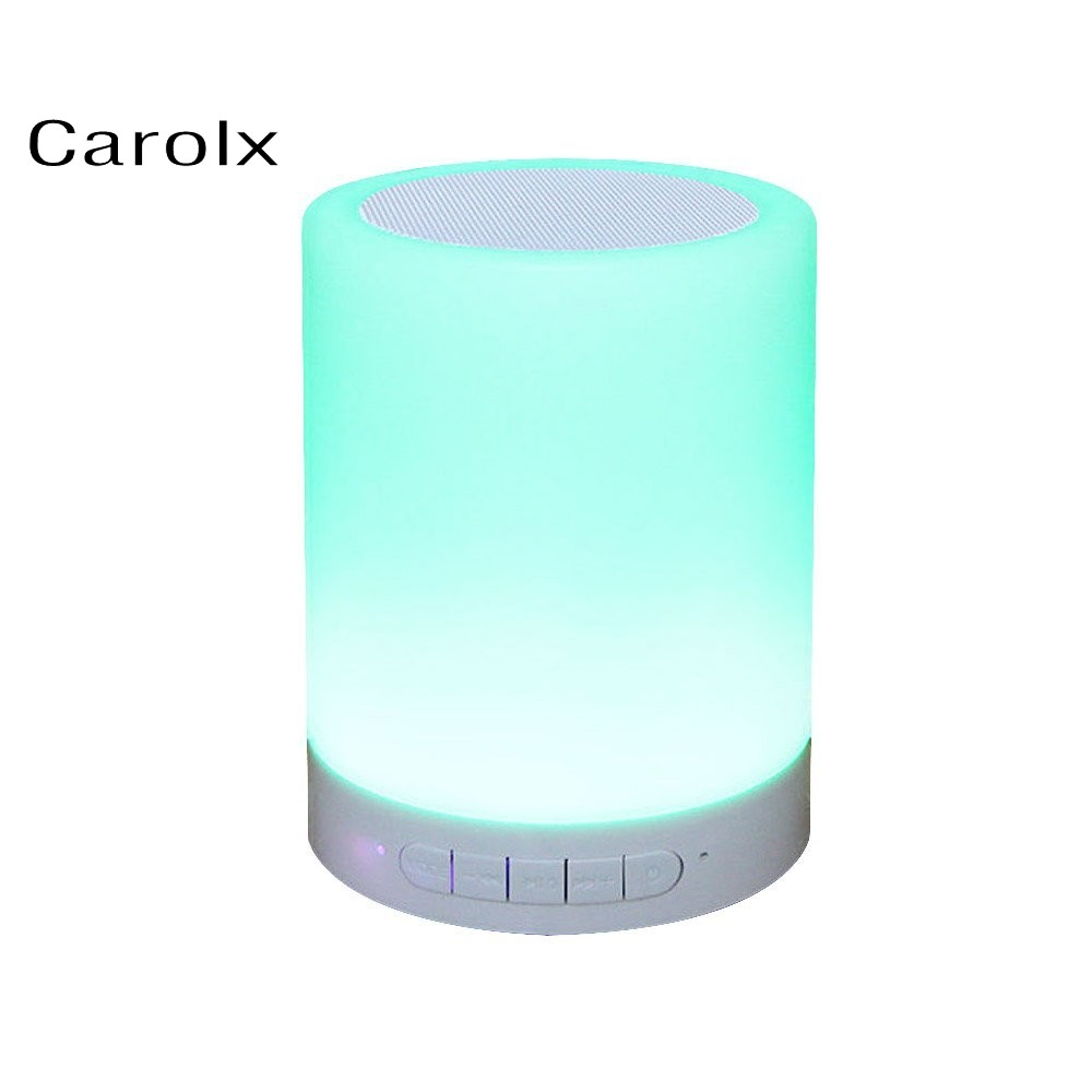 Best Selling Items Digital Alarm Clock Portable Mini Wireless Speaker with USB Input Charger Led Lamp Light Support TF Card