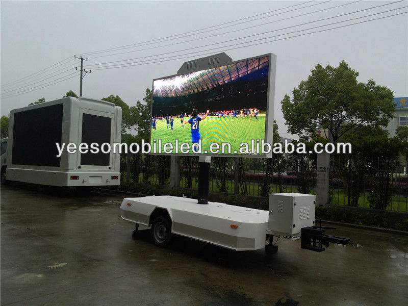 Out of home dvertising trailer with P10 high brightness led screen and video displayer
