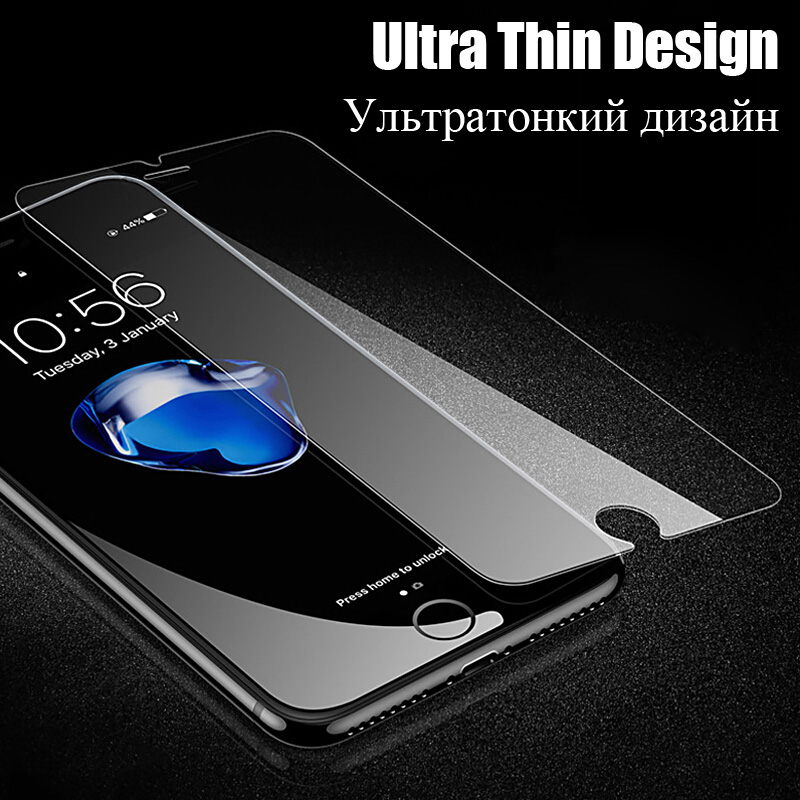 2 Pcs  lot Screen Protector For iPhone 5 5s 5C SE 6 6s 7 8 X Glass Film Ultra-thin Tempered For iPhone 6 6s 7 8 Plus X 5 5s SE   (3)