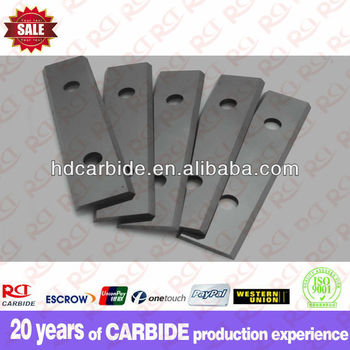 Mirror finishing 82 with double hole cutting tungsten carbide planer blade